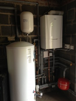 New gas central heating system installed